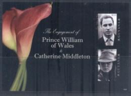 Guyana 2011 Royal Engagement William & Kate #1023 $225 MS MUH - Guiana (1966-...)