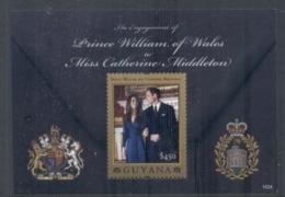 Guyana 2011 Royal Engagement William & Kate #1024 $225 MS MUH - Guyana (1966-...)
