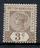 British Honduras 1891-98 3c Brown QV Portrait Wmk Crown CA MLH - Ecuador