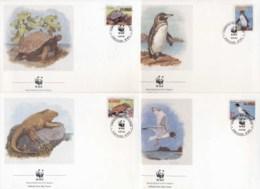 Ecuador 1992 WWF Animals Of The Galapagos FDC - Ecuador