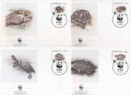 Venezuela 1992 WWF Red-footed Tortiose & River Turtle FDC - Venezuela