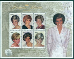 Guyana 1997 Princess Diana In Memoriam, Princess Of Wales MS MUH - Guyana (1966-...)