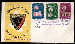 COLOMBIA- KOLUMBIEN - 1962.FDC/SPD.  VI NATIONAL CONGRESS OF ENGINEERS. SINGLE - Colombia