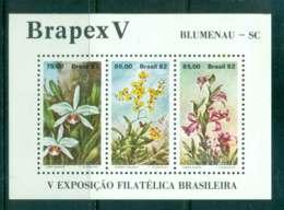 Brazil 1982 BRAPEX V Stamp Ex. Orchids MS MUH Lot47079 - Brésil