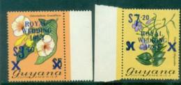 Guyana 1981 Royal Wedding $3.6, $7.2 Blue Opts MUH Lot80925 - Guyana (1966-...)