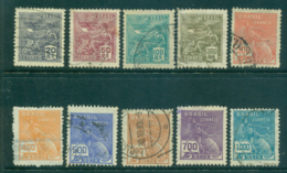 Brazil 1929 Aviation, Mercury Wmk E.U Brasil (10)FU Lot36155 - Unclassified