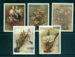 Guyana 1987-89 Orchid Types Opt, Surch MLH Lot55306 - Guyana (1966-...)