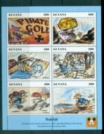 Guyana 1993 Disney, Donald Duck, Movie Posters, Pirates Gold Sheetlet MUH Lot80065 - Guyana (1966-...)