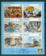 Guyana 1993 Disney, Donald Duck, Movie Posters, Pirates Gold Sheetlet FU Lot80066 - Guyana (1966-...)
