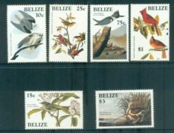 Belize 1985 Audubon Birds MLH Lot80872 - Belize (1973-...)