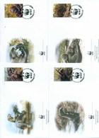 Peru 2004 WWF Giant Otter 4xFDC Lot77072 - Peru