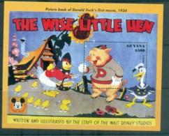 Guyana 1993 Disney, Donald Duck, Movie Posters, The Wise Little Hen MS MUH Lot80052 - Guyana (1966-...)