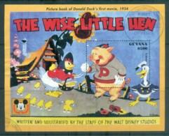 Guyana 1993 Disney, Donald Duck, Movie Posters, The Wise Little Hen MS FU Lot80054 - Guyana (1966-...)
