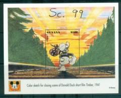 Guyana 1993 Disney, Donald Duck, Movie Posters, Timber MS MUH Lot80056 - Guyana (1966-...)