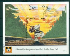 Guyana 1993 Disney, Donald Duck, Movie Posters, Timber MS FU Lot80058 - Guyane (1966-...)