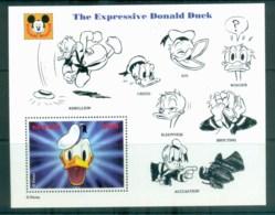 Guyana 1993 Disney, Donald Duck, Movie Posters, Expressive Donald Duck MS MUH Lot80060 - Guyana (1966-...)