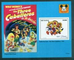 Guyana 1993 Disney, Donald Duck, Movie Posters, Three Caballeros MS MUH Lot80063 - Guyane (1966-...)