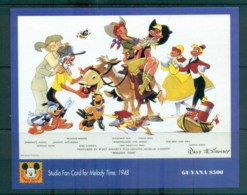 Guyana 1993 Disney, Donald Duck, Movie Posters, Melody Time MS MUH Lot80064 - Guyana (1966-...)