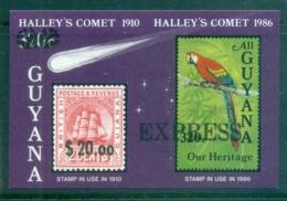 Guyana 1986 Halley's Comet Opt EXPRESS IMPERF Pr MS MUH - Guyana (1966-...)