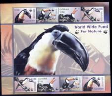 Guyana 2003 WWF Toucans, Birds MS MUH - Guyana (1966-...)