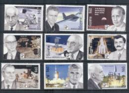 Guyana 1994 Space, Moon Landing Scientists (9) MUH - Guyana (1966-...)