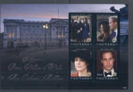 Guyana 2011 Royal Engagement William & Kate #1024 $200 MS MUH - Guyana (1966-...)