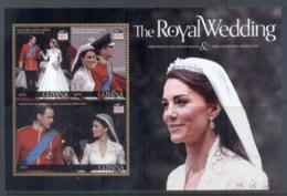 Guyana 2011 Royal Wedding William & Kate #1115 $275 MS MUH - Guyana (1966-...)