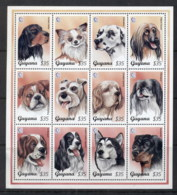 Guyana 1995 Dogs, Singapore '95 Sheetlet MUH - Guyana (1966-...)