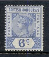 British Honduras 1891-98 6c Ultramarine QV Portrait Wmk Crown CA MLH - Ecuador