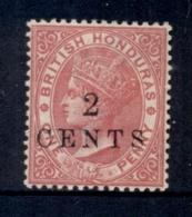 British Honduras 1888 2c On 1d Rose QV Portrait Wmk Crown CA MHH - Ecuador