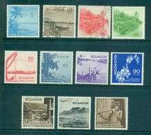 Ecuador 1957-58 Scenic Pictorials MLH/FU Lot46709 - Ecuador