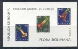 Bolivia 1962 Flowers Ms MUH - Bolivie