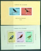 Ecuador 1973 Birds 2xMS, Perf/Imperf 2xMS MUH - Ecuador