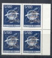 Ecuador 1964 Airmail, Faro De Colon Opt Blk 4 MUH - Ecuador