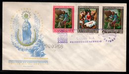 COLOMBIA- KOLUMBIEN - 1962.FDC/SPD.  RELIGIOUS - SAN ISIDRO LABRADOR AND CHRISTMAS - Colombia