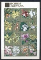 Guyana 1990 Flowers, Orchids Sheetlet MUH - Guyana (1966-...)