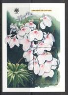 Guyana 1990 Flowers, Orchids MS MUH - Guyane (1966-...)