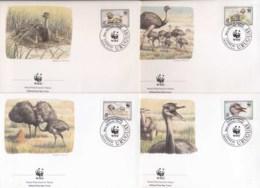 Uruguay 1993 WWF Greater Rhea, Bird FDC - Uruguay