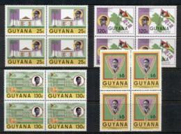 Guyana 1986 President Burnham Blk4 MUH - Guyana (1966-...)