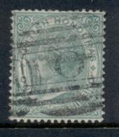 British Honduras 1877-79 1/- Green QV Portrait Wmk Crown CC FU - Ecuador