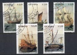 Guyana 1990 Sailing Ships CTO - Guyane (1966-...)