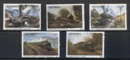 Guyana 1990 Trains, Locomotives CTO - Guyane (1966-...)