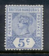 British Honduras 1891-98 5c Ultramarine QV Portrait Wmk Crown CA MLH - Equateur