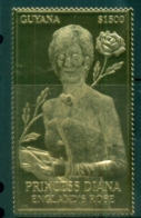 """Guyana 2007 Princess Diana """"Gold Foil"""" MS MUH Lot84723 - Guyane (1966-...)"""