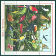 Guyana 1990 Tropical Birds MS MUH - Guyana (1966-...)