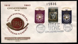 COLOMBIA- KOLUMBIEN - 1962.FDC/SPD. UPAEP - 50 YEARS OF THE POSTAL UNION OF THE AMERICAS AND SPAIN - Colombia