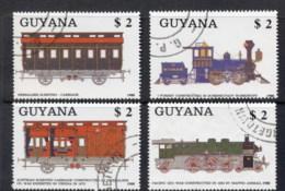 Guyana 1989 Trains CTO - Guyana (1966-...)