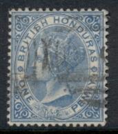 British Honduras 1877-79 1d BlueQV Portrait Wmk Crown CC FU - Ecuador