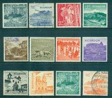 Ecuador 1957-58 Scenic Pictorials Air (12) MLH/FU Lot46734 - Equateur