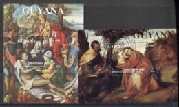 Guyana 1993 Xmas Paintings 2xMS CTO - Guyane (1966-...)